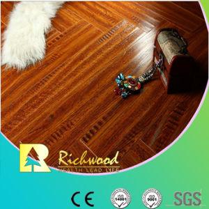 Pavimento fonoassorbente di Laminte della noce impresso 8.3mm dell'annuncio pubblicitario