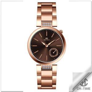 ステンレス鋼の女性の腕時計