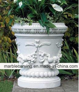 Естественный белый большой Flower Pots