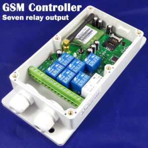 Il GSM Controller, 7 Relay Output Can è Switched inserita/disinserita da SMS Commands