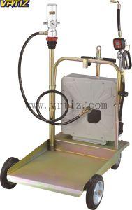 Ruedas Air-Operated Conjunto de la bomba de aceite con un carrete de manguera cerrado