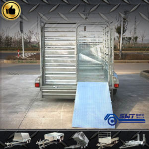 Rimorchio del camion del palo del bestiame con l'asse in tandem (SWT-CTT95)