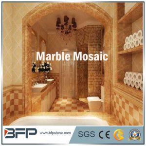 Het vierkante Marmeren Mozaïek van de Tegels van de Muur van de Badkamers van het Patroon
