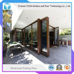 Venta Directa de Fábrica de Vidrio Laminado de salto térmico de la puerta Bifolding Alumium