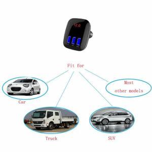 Trasmettitore di Bluetooth FM del caricatore dell'automobile del USB del giocatore di musica di Bluetooth TF del trasmettitore dell'automobile in-1 FM di Univeral 4 3