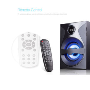 Cinema em Casa 5.1 com colunas de som surround com LED de Controle Remoto Bluetooth USB