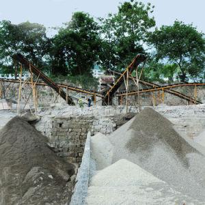 石を押しつぶすための大きい容量の砕石機のプラント