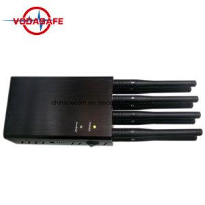 Ajustable de potencia de señal móvil Jammer, bloqueador de la señal para todos los 2G, 3G, 4G de bandas de telefonía móvil, Lojack 173MHz. 433MHz, Antena 8 Portátil Jammer para todos los GSM/CDMA/3G/4G