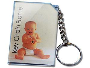 Baratos promocionales bebé personalizados Llavero acrílico Marcos de fotos (061)