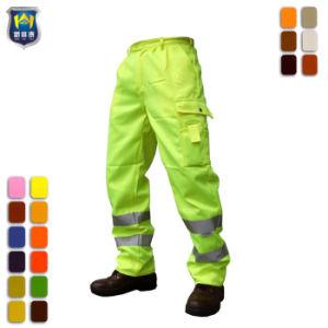 Hi Vis Trabalho Amarelo reflexivo segurança calça um par de calças