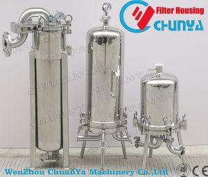 Aço inoxidável sanitárias do alojamento do filtro de cartucho