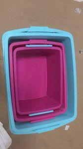600mm*460mm*360mm使用されたプラスチック世帯の収納箱の注入型