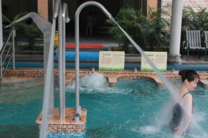 Acero inoxidable al aire libre Spa Piscina ducha de chorro de agua pulverizada