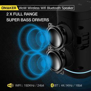 Omaker 와우 아마존 Alexa 음성 통제 주식에 있는 무선 Multiroom WiFi 휴대용 스피커를 가진 핸즈프리 Bluetooth WiFi Ai 정보 지능적인 스피커