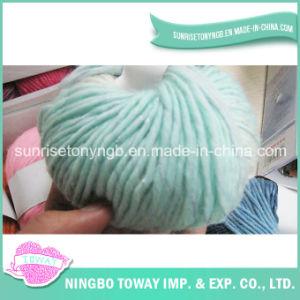 Lado de tricotar luvas de algodão de lã de poliéster Fios Fantasia -11