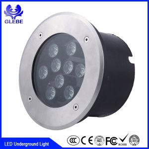 Justierenfarben-LED begrabene Lichter des licht-316 Tiefbau-LED hellblaue des Edelstahl-