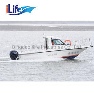 Ilife 7.6 van de Cabine Meters van de Glasvezel die van de Patrouille Boot Panga/de Boot van de Redding/van de Patrouille vissen/het Duiken