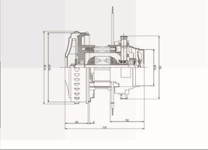 800W de 30.000rpm sin escobillas de seco&Húmedo Motor eléctrico para aspiradora