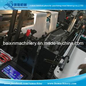 Sacchetto di plastica inferiore di sigillamento di quattro strati che fa macchinario
