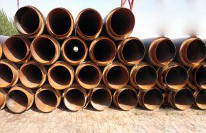 Tubo d'acciaio isolato con il tubo dell'intelaiatura dell'HDPE per olio