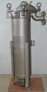 Alto alloggiamento del filtro a sacco del segno dell'acciaio inossidabile di flusso