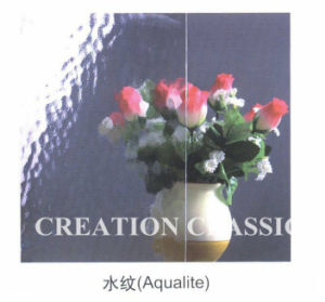 duidelijke van 6mm het Decoratieve/Gevormde Glas van het Brons regen-B voor de Bijlagen van de Douche van de Badkamers