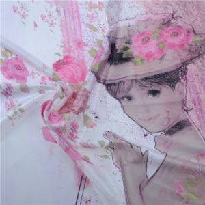 Padrão de moda de tecido de seda de Impressão Digital personalizado para vestir