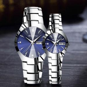 Relógios de quartzo Casal à prova luminosa Relógios de pulso de homens e mulheres