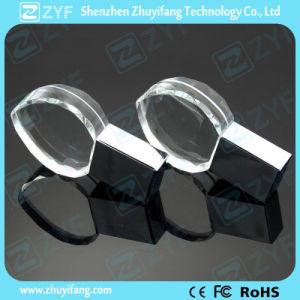 Кристально чистый звук в форме сердечка флэш-накопитель USB с 3D логотип (ZYF1523)