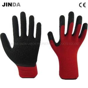 Ondulada recubierto de látex de la mano de obra industrial de protección guantes de trabajo (LS204)