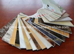 PVC Extrusion de feuilles de marbre artificiel de ligne de production de 1220mm