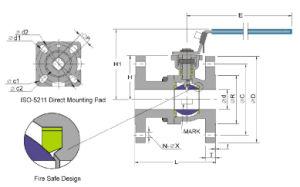 직접 설치 패드 ANSI 150lbs를 가진 고품질 2PC 플랜지 공 벨브