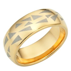 Organized Clutter caramel applied Tungsten ring people Wedding link