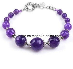 Pulsera de la joyería semi preciosa de piedra cristalina de moda (ESB01294)