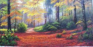 Olieverfschilderijen -019 van het landschap