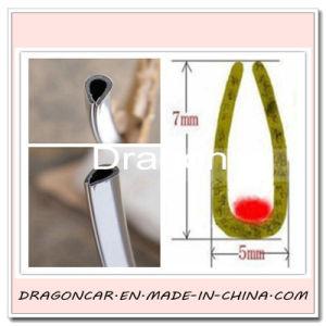En forma de U puerta del automóvil el protector de borde decorativo con varios colores