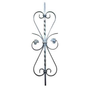 シンプルな設計の錬鉄の柵のBaluster