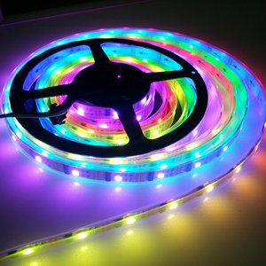 Multi-Fuction Flexible decorativos direccionable DMX 5050 tiras de LED RGB