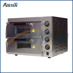 Ep2st eléctrico de doble capa pizza horno de panadería con temporizador para equipos de panadería