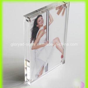 Diseño magnético de la transparencia del marco de fotos acrílico