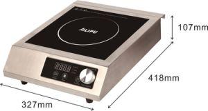 2ファンが付いているすべての金属ハウジングのノブ制御Commericalの誘導の炊事道具