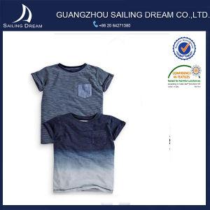 Lo Short rotondo del collo della tintura del TUFFO collega la nuova maglietta con un manicotto degli uomini di promozione