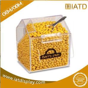 Le plexiglas acrylique claire Candy Backery alimentaire Conteneur d'affichage