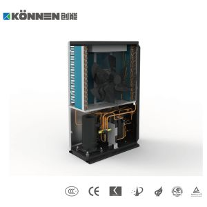Evi ar para água da bomba de calor com elevadores de válvula de 3 vias para água quente e aquecimento