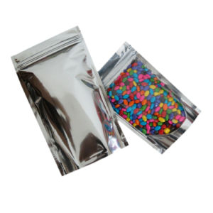 로고 은 포일 포장을%s 가진 금속을 입힌 포일 비닐 봉투를 지우십시오