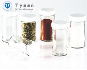 De Kruik/de Fles van het Kruid van het glas met het Regelbare Deksel van het Roestvrij staal van het Kruiden