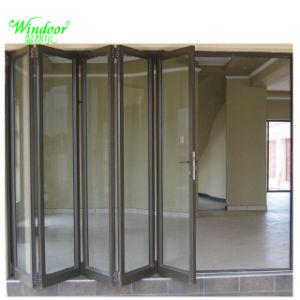 Portelli di piegatura di vetro di alluminio del portello scorrevole della prova sana doppi