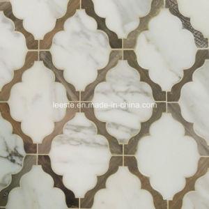 De kleurrijke Ontwerp Opgepoetste Marmeren Waterjet Scherpe Tegel van het Patroon van het Mozaïek voor Vloer/Hotel