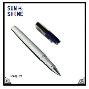 주문을 받아서 만들어진 Logo Roller Pen Company 로고 Leahter 금속 펜