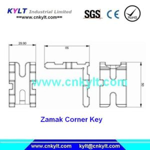 Touche d'angle de zinc Moulage sous pression pour la construction de la décoration d'assemblage de pièces